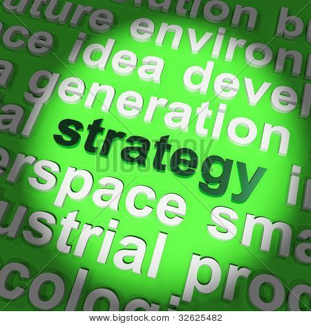 Strategy Word Showing Planning And Vision To Achieve Goal