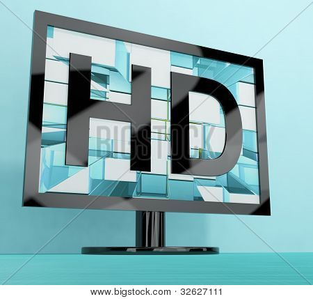 HD Monitor Representing High Definition Television Or TV