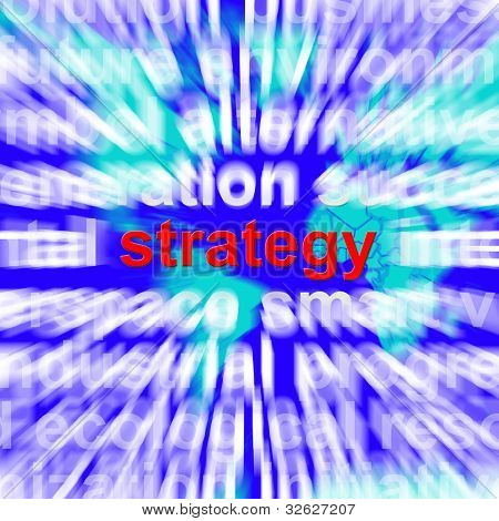 Strategy Word Showing Planning And Vision To Achieve Goals