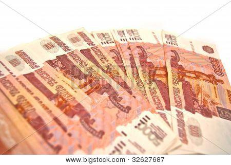 Many Russian Banknotes