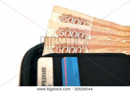 Three Banknotes In Wallet