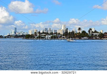 Dilido Island and Downtown Miami Skyline