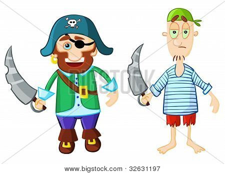 Funny cartoon pirates