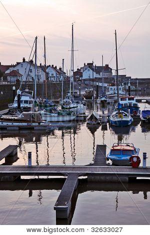 Watchet Harbour at dusk