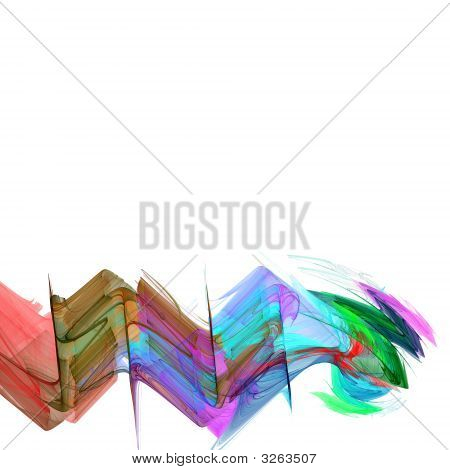 High Resolution Multicolored Background Illustration On White