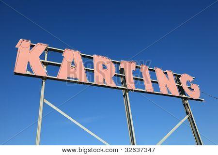 Karting Sign
