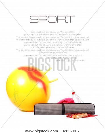 Backcground With Sport Items
