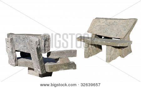 two muskoka granite benches