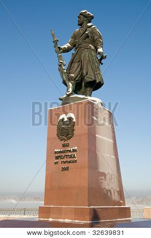 Russia. Monument to founders of the city of Irkursk from townspeople
