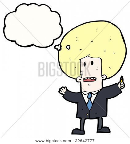 cartoon businessman with big hair