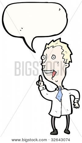 cartoon blond man answering question
