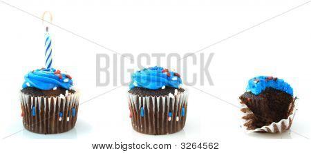 Three Cupcakes.