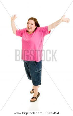 Plus Sized Model - Jump For Joy