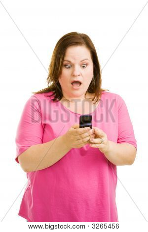 Shocked By Text Message