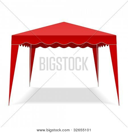 Pop Up Gazebo. Vector.
