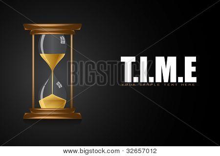 Abbildung der Sanduhr Ergebnis Zeit auf motivierende Zeit Hintergrund