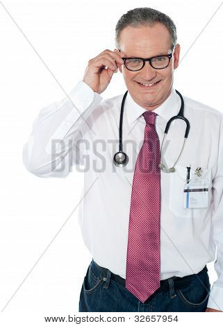 Mature Medical Professional, Indoors Studio Shot