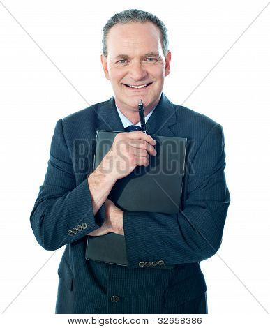 Welldressed Corporate Person Holding Document