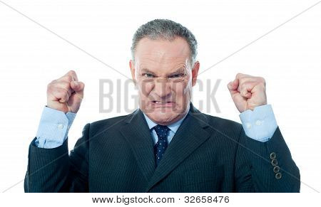 Frustrated Senior Businessman