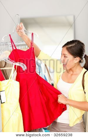 Woman Shopping Buying Clothing