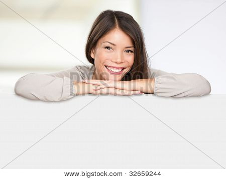 Multiethnic Sign Woman Happy