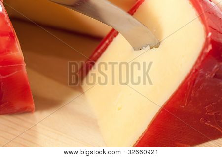 Round Wax Covered Dutch Edam Gouda Cheese