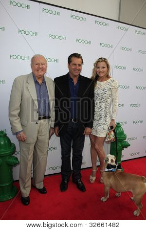 LOS ANGELES, CA - MAY 3: Dick Van Patten, James Van Patten, guest at the grand opening of the Pooch Hotel on May 3, 2012 in Hollywood, Los Angeles, California.