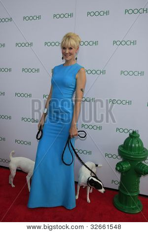 LOS ANGELES, CA - MAY 3: Founder of Pooch Hotel Robin Tomb at the grand opening of the Pooch Hotel on May 3, 2012 in Hollywood, Los Angeles, California.