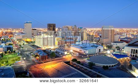 El Paso Texas Skyline at Night