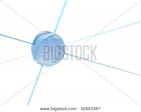 Synergy Abstract Objects Isolated on white background