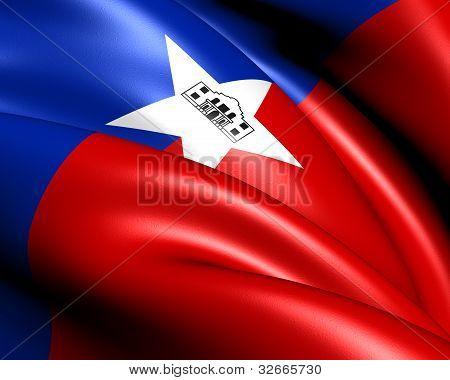 Bandera de San Antonio, Estados Unidos.