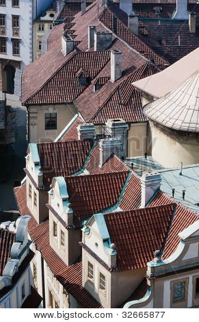 Rooftops of Prague in Czechia Europe