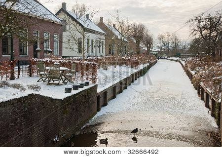 Winter In A Small Dutch Village