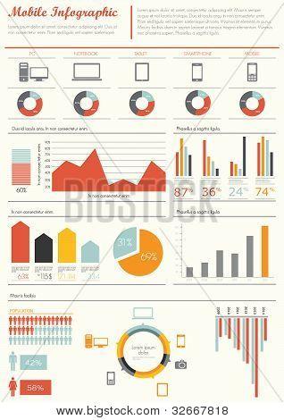 Ilustração de infográfico vetor de detalhe. Mapa do mundo e gráficos de informação