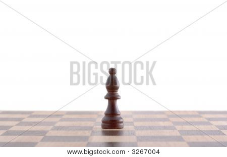 Signle Pawn On Chessboard