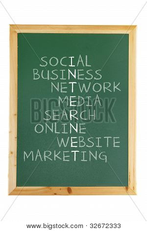 Black Board with Internet Concepts