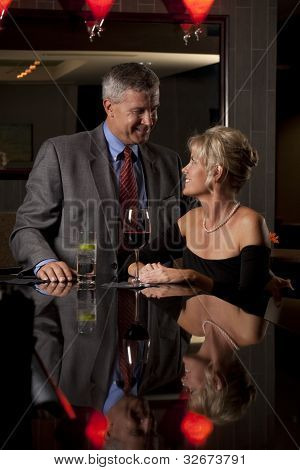 Man and  a Woman at a Restaurant/Bar