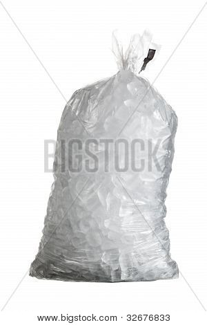 Isolated Shot Of Bag Of Ice