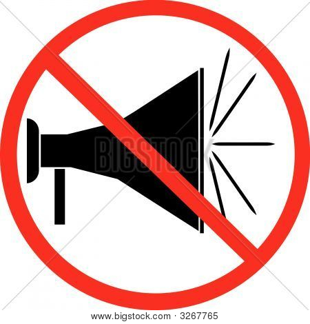 Bullhorn Not Allowed Symbol