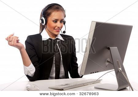Girl And A Computer