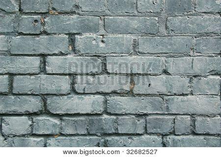 Blue Patina Paint on Bricks