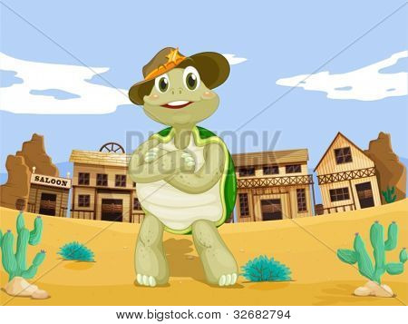 Turtle in a wild west town
