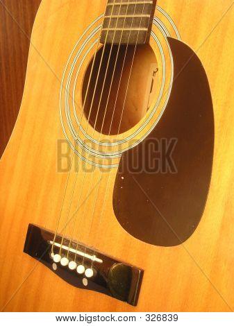 Tapa armónica de la guitarra