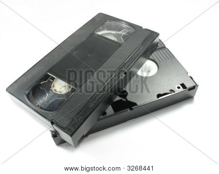 Old Video Cassete Isolated Over White Background