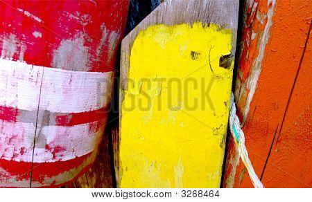 Colorful Cape Cod Buoys