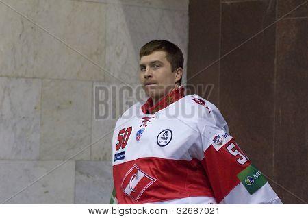 Goaltender Yakhin Alexey