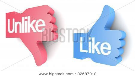 """Like"" and ""Unlike"" buttons"