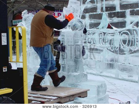 Creating Ice Sculpture