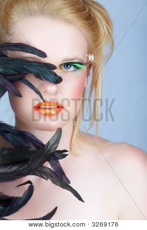 Beauty With Long Lashes