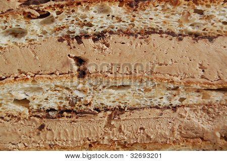 chocolate cake, close up